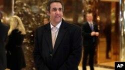 Michael Cohen, le conseiller de Donald Trump à la Trump Tower, à New York, le 16 décembre 2016.