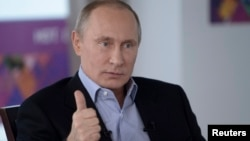 Владимир Путин. Сочи, Россия. 19 января 2014 г.