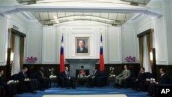 馬英九接見外賓的台灣總統府