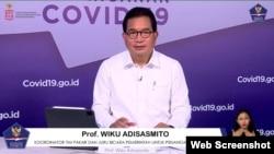 Dalam telekonferensi pers di Graha BNPB , Jakarta, Selasa (2/3) Jubir Satgas Penanganan Covid-19 Prof Wiku Adisasmito tidak mengungkapkan lokasi ditemukannya pasien COVID-19 dengan Varian Baru asal Inggris (Foto:VOA)