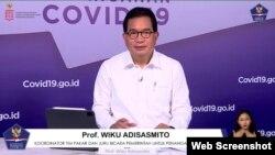 Jubir Satgas Penanganan Covid-19 Prof Wiku Adisasmito dalam telekonferensi pers di Graha BNPB , Jakarta, Selasa (2/3). (Foto:VOA)