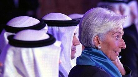 国际货币基金组织总裁拉加德在科威特出席一次有关伊斯兰金融的国际会议。(2015年11月11日)