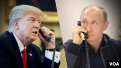 Perezida Donald Trump wa Leta zunze ubumwe z'Amerika avugana na Vladimir Putin