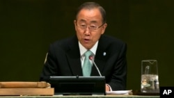 Sekjen PBB Ban Ki-moon mengatakan PBB akan memberikan tunjangan bagi semua stafnya yang menikah dengan pasangan sejenis (foto: dok).