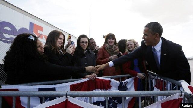 Tổng thống Obama tại Las Vegas, ngày 29/1/2013.