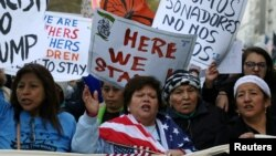 Women march against U.S. President-elect Donald Trump in Manhattan, New York, Nov. 13, 2016.