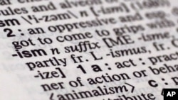 Merriam-Webster selected 'ism' as this year's word of the year.