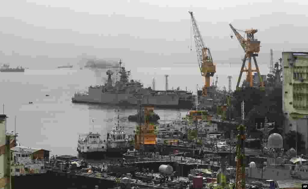 Xưởng đóng tàu hải quân nơi xảy ra vụ tai nạn, ngày 14/8/2013.