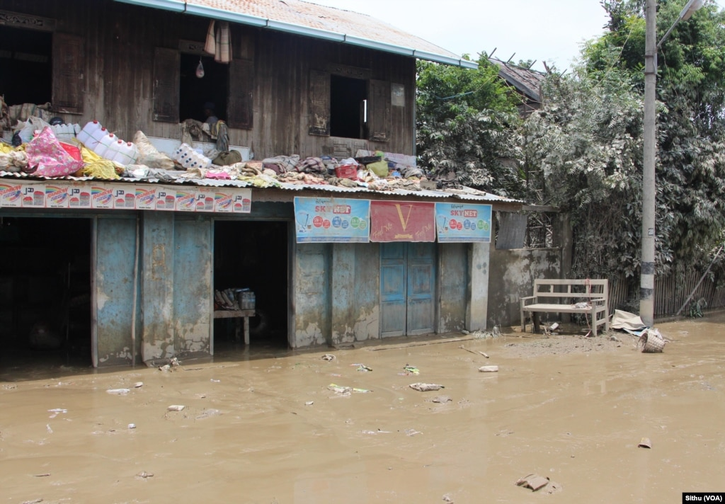 Magway Myanmar  city images : ... flooding in Magway, near Mandalay, Myanmar, Aug. 5, 2015. Sithu/VOA