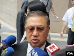 台湾工商协进会理事长骆锦明(美国之音张永泰拍摄)