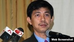 Doanh nhân Trần Huỳnh Duy Thức tại một sự kiện ở Singapore trước khi bị bắt giam.