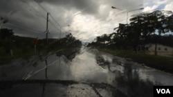 Las lluvias se han intensificado en algunas zonas del país.