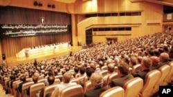 Une assemblée du parti Baas à Damas