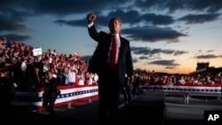 Predsednik SAD Donald Tramp na mitingu u Pensilvaniji