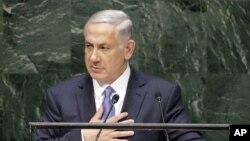 سخنرانی بنیامین نتانیاهو نخست وزیر اسرائیل در نشست سالانه مجمع عمومی سازمان ملل متحد در نیویورک - ۷ مهر ۱۳۹۳