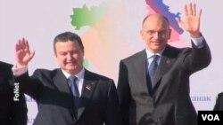 Premijeri Srbije i Italije, Ivica Dačić i Enriko Leta pred italijansko-srpski samit u Ankoni, 15. oktobar 2013.