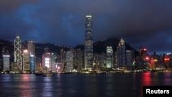 资料照:香港岛和维多利亚湾