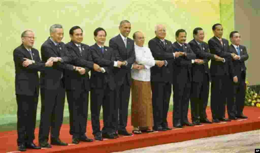 Viongozi wanaohudhuria mkutano wa ASEAN na Marekani wapiga picha ya pamoja.