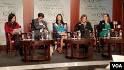 5일 워싱턴 전략국제문제연구소(CSIS)에서 미국 전직 당국자들이 참석한 가운데 한반도 평화체제에 관한 토론회가 열렸다.
