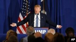 Ứng cử viên tổng thống của đảng Cộng Hòa Donald Trump trong một chiến dịch vận động tại bang South Carolina ngày 18/2/2016.