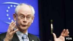 Presiden Uni Eropa Herman Van Rompuy mengatakan, tingginya angka pengangguran mengancam persatuan Eropa.