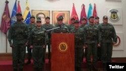 El ministro de Defensa de Venezuela anunció el miércoles el apoyo de las Fuerzas Armadas de la nación a la Asamblea Nacional Constituyente propuesta por el presidente Nicolás Maduro para el 30 de junio. Foto: @ceofanb.