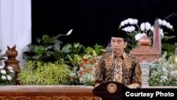 Joko Widodo, palais présidentiel, Jakarta, Indonésie. (Archives)