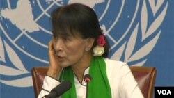 Nhà lãnh đạo dân chủ Miến Điện Aung San Suu Kyi tại Geneva