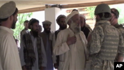 Tribal elders meet with U.S. troops in Afghanistan's Chowkay Valley