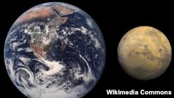 مریخ اور زمین
