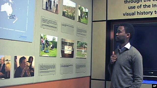 Yves Kamuromsi - only 13 when the Rwandan genocide occurred - now heads the documentation center at the Kigali Genocide Memorial Center in Rwanda, and said sharing the experience with other survivors helps everyone, November 2011.