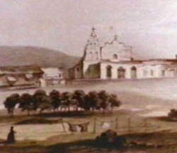 A historic picture of San Diego de Alcala