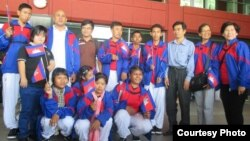 Cambodian athletes join Special Olympic World Games in Los Angeles, United States from July 25th until August 2nd 2015. (Courtesy photo of Cambodian Special Olympic Delegation)