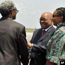 Le président sud-africain Jacob Zuma, un des membres du panel