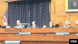 美国国会众议院外交事务委员会亚太小组委员会星期二(2月28日)就中国在南中国海的行动举行听证。 ( 美国之音斯洋拍摄)