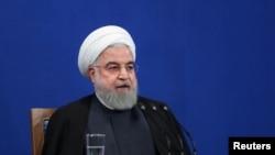 伊朗总统鲁哈尼。资料照片。
