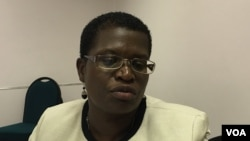 Zimbabwe's national HIV prevention coordinator, Gertrude Ncube, says the self-testing kits are convenient and discreet. Only 34 percent of men in Zimbabwe know their HIV status, compared to 56 percent for women, Harare, Zimbabwe, February, 2016 (S. Mhofu/VOA).