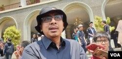 Zaenal Arifin Mochtar, pakar hukum UGM dan aktivis anti korupsi.(Foto:VOA/ Nurhadi)