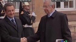 2011-11-24 美國之音視頻新聞: 德法意領袖召開峰會商討歐債危機