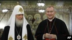 El Secretario de Estado del Vaticano Pietro Parolin, se reunió con Lavrov y también con el patriarca Cirilo de la Iglesia Ortodoxa Rusa.