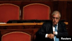 FILE - Marcello Dell'Utri attends a debate at the Senate in Rome, Sept. 30, 2010.