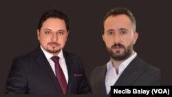Bijar Koçer (Rast- PDK) û Sipan Amêdî(Çep-Newey Niwê) endamên parlamena Herêma Kurdistanê