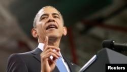 지난 1월 라스베가스에서 이민법 개정안에 대한 연설을 하고 있는 바락 오바마 미국 대통령. (자료사진)