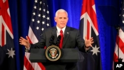 Vice President Mike Pence in Australia