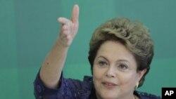 ဘရာဇီးလ္သမၼတ Dilma Rousseff ။