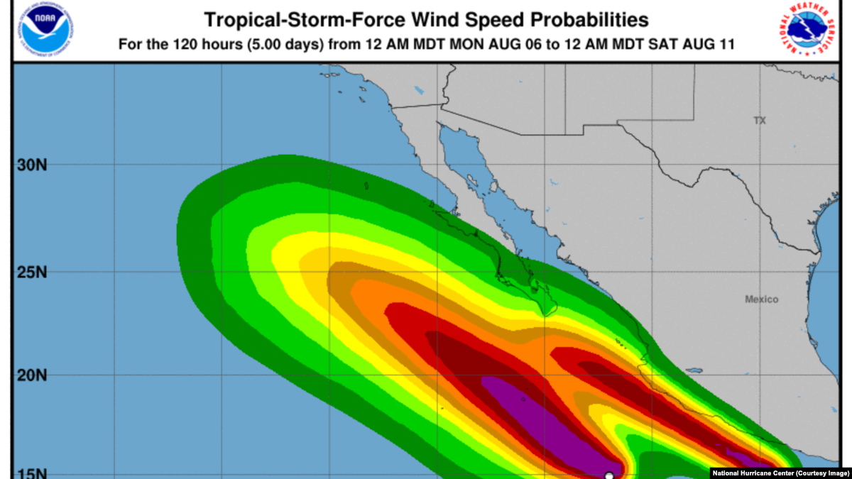 2 Tropical Storms Gaining Force Off Mexicos Coast Pacific Scientific Wiring Diagram
