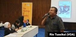Ajiwan Arief dari SIGAB mengatakan film jadi sarana efektif untuk mengikis stigma di masyarakat. (VOA/Rio Tuasikal)