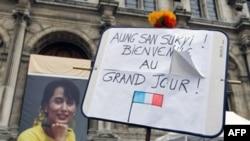 Dünya liderləri Aunq San Suu Kyinin azadlığa buraxılmasını alqışlayır
