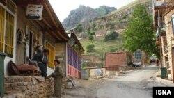 نمایی از یک روستای کردنشین ایران