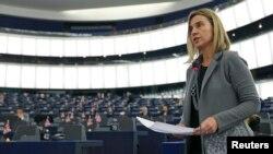 Visoka predstavnica za inostranu politiku, Federika Mogerini u Evropskom parlamentu